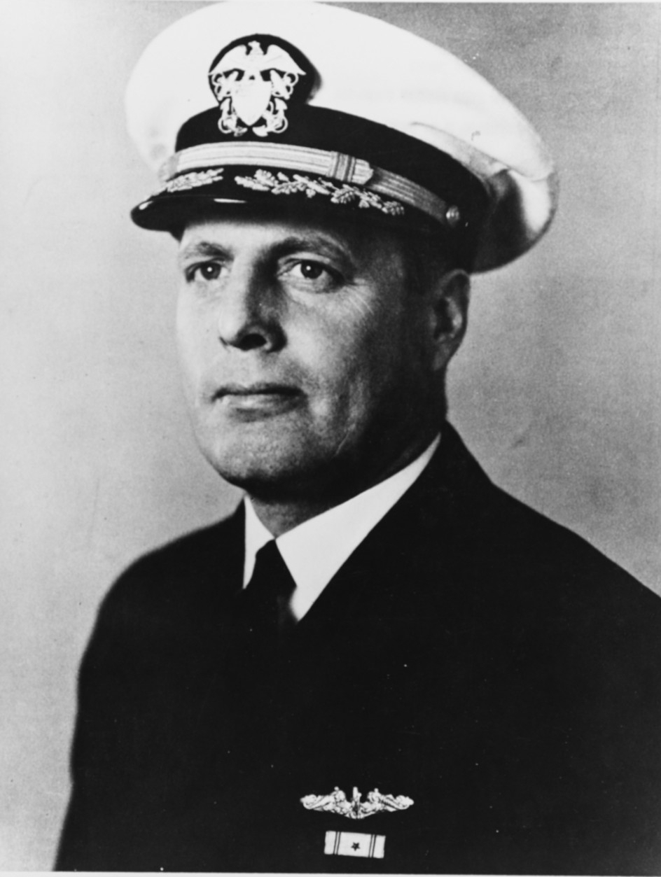 Photographed circa 1943. He was lost with USS Sculpin (SS-191) on 19 November 1943 and was posthumously awarded the Medal of Honor for his actions at that time. This image was published in the book United States Submarine Losses in World War II. U.S. Naval History and Heritage Command Photograph 51733.