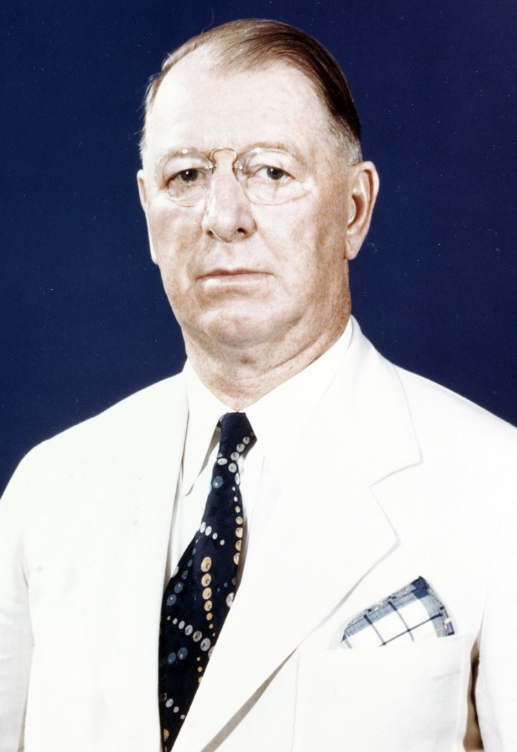 Secretary of the Navy Frank Knox photographed circa 1943. Official U.S. Navy Photograph, now in the collections of the National Archives,  80-G-K-13949.