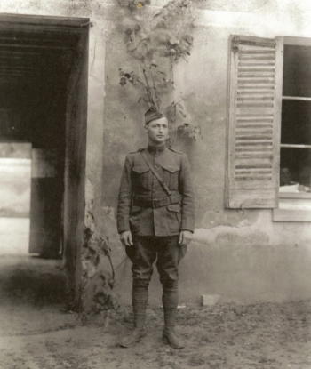 Lieutenant Commander Lyle in France during WWI attached to 5th Regiment USMC (Photo from BUMED).