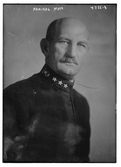 Admiral Mayo, December 1918, negative from Bain News Service, publisher, Library of Congress, LC-B2- 4772-8 [P&P].