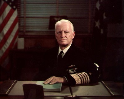 Photo #: 80-G-K-9344 (Color) Fleet Admiral Chester W. Nimitz, USN, Chief of Naval Operations At his desk at the Navy Department, circa December 1945 - December 1947.