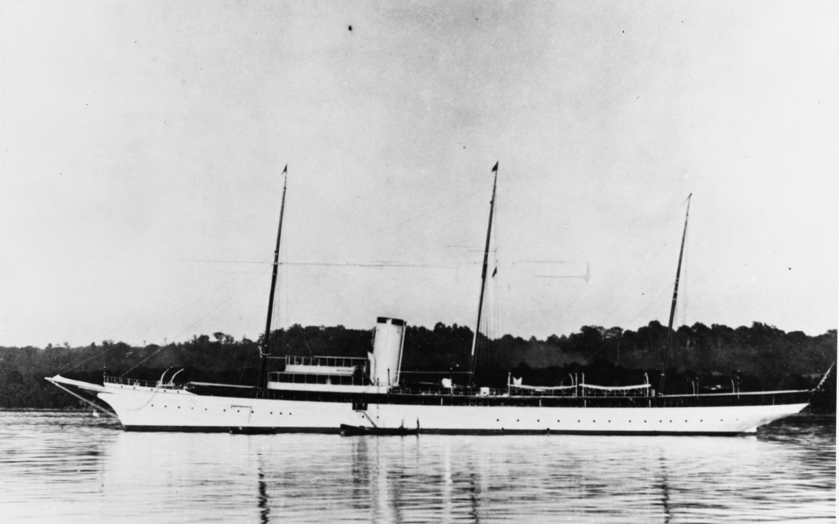 Aphrodite, built in 1899, photographed prior to her U.S. Navy service in World War I. Courtesy of Charles Sass, 1980. (Naval History and Heritage Command Photograph NH 91435)