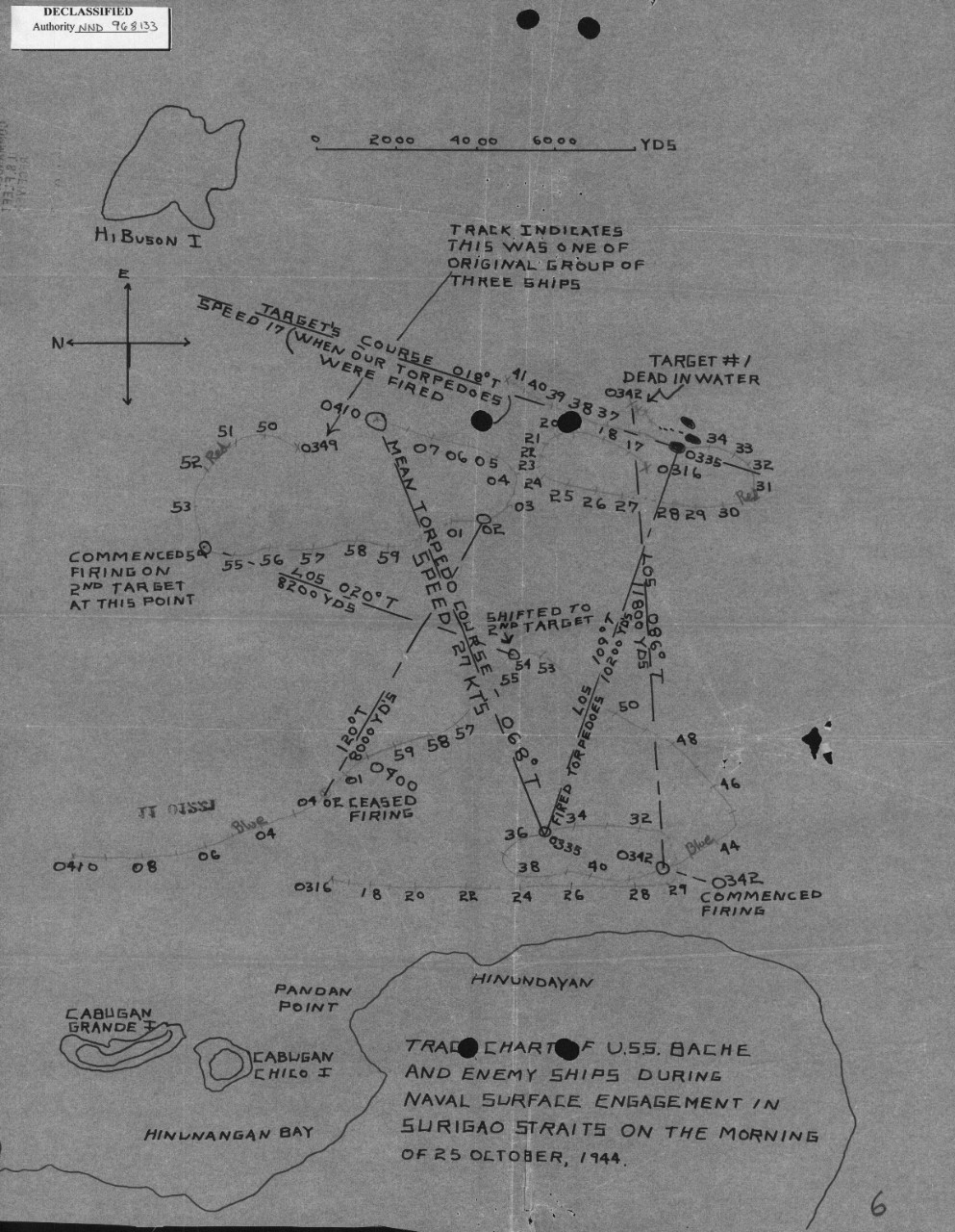 Bache Ii Dd 470 Cushman Hawk Wiring Diagram Baches Track Chart For The Battle Of Surigao Strait Shows Confusion Fighting At
