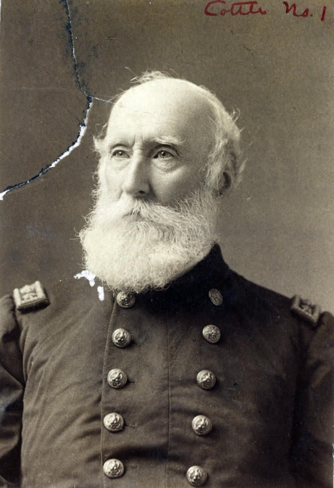 Rear Admiral George B. Balch (1821–1908), photographed circa 1878-1883. (U.S. Naval History and Heritage Command Photograph. NH 56075)