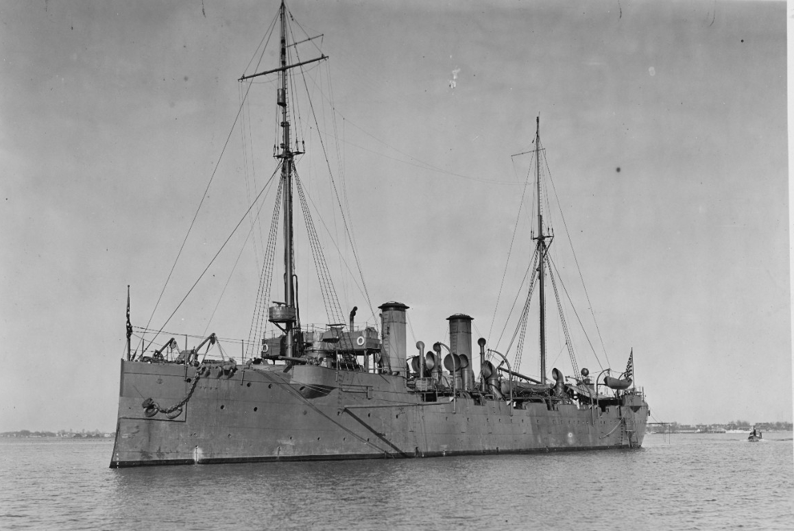 Baltimore at Hampton Roads, Va., 10 December 1916. (Naval History and Heritage Command Photograph NH 54427)