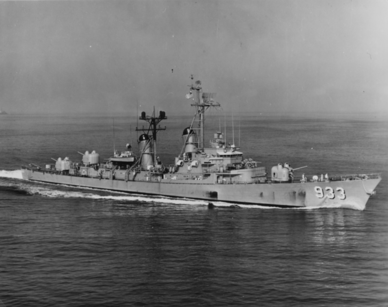 USN Navy Ship Print USS WARRINGTON DD 843 US Naval Destroyer