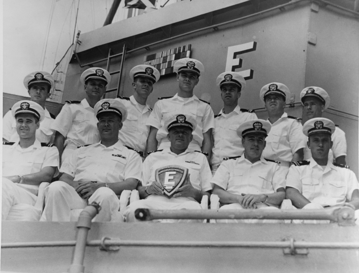 USS Barton (DD-722) commander and officers
