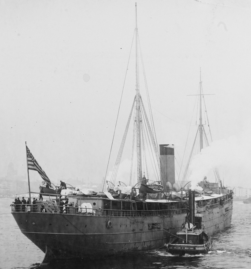 Buffalo photographed on 29 November 1898, soon after her commissioning. (Naval History and Heritage Command Photograph NH 754)
