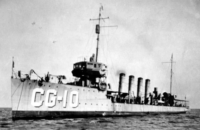 Burrows, designated CG-10, in Coast Guard service, date unknown. (U.S. Coast Guard Historian's Office)