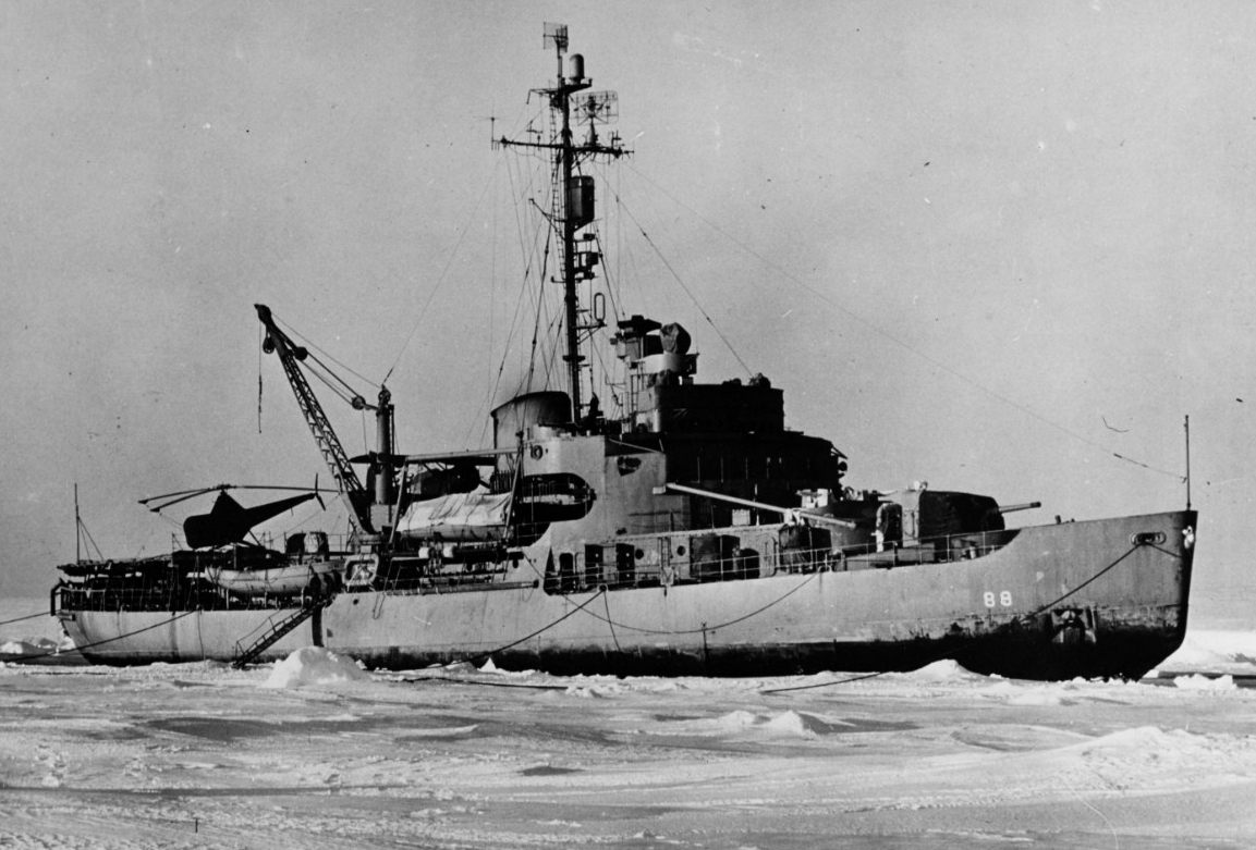 Burton Island circa 1946–1949. (Naval History and Heritage Command Photograph NH 79411)