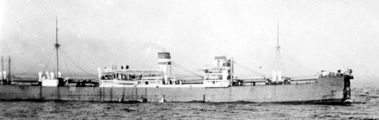 Silverpalm, her bow crushed, lies-to following the collision on 24 October 1933
