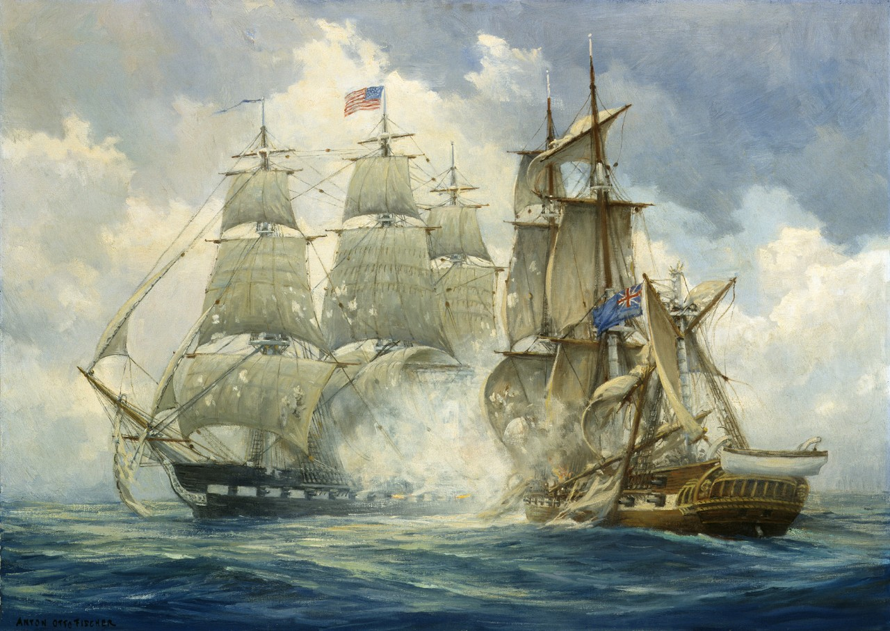 USS Constitution vs HMS Java