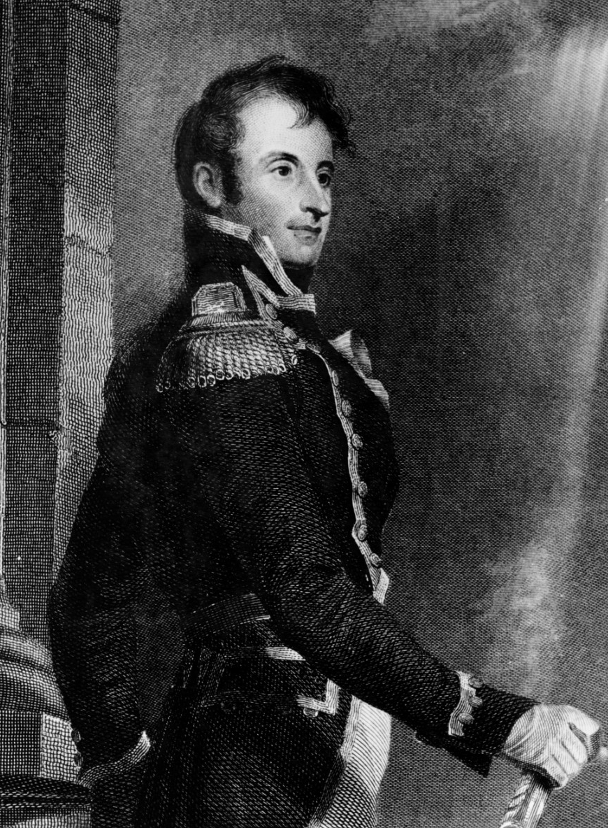 Stephen Decatur -- Engraving by A.B. Durand from a copy by James Herring of the Thomas Sully portrait. Published in James Herring & James Barton Longacre: National Portrait Gallery of Distinguished Americans, Volume 3. The print includes a facsimile of Decatur's signature. (Naval History and Heritage Command Photograph NH 50519)