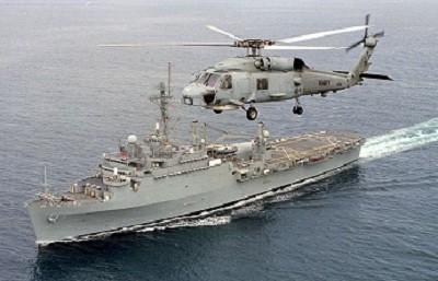NAVY BLUE Veteran Owned Business USS DENVER LPD-9 SHIP HAT