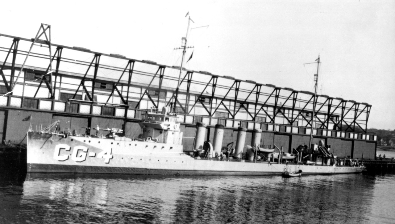 Downes, as CG-4, at New London, no date (US Coast Guard Historian's Office).