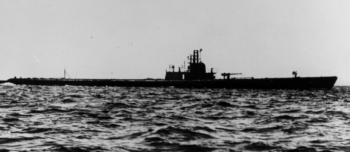 Drum at sea, 4 June 1943. (Naval History and Heritage Command Photograph NH 79762)