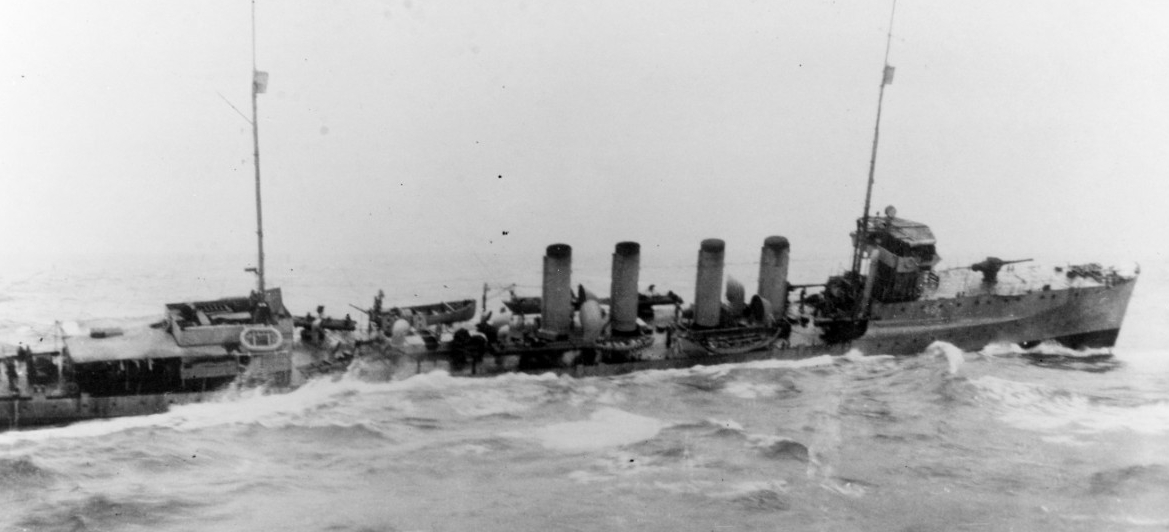 Duncan operating in the war zone, 1917. (Naval History and Heritage Command Photograph NH 95198)