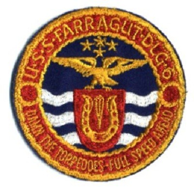 The crest of Farragut (DLG-6)