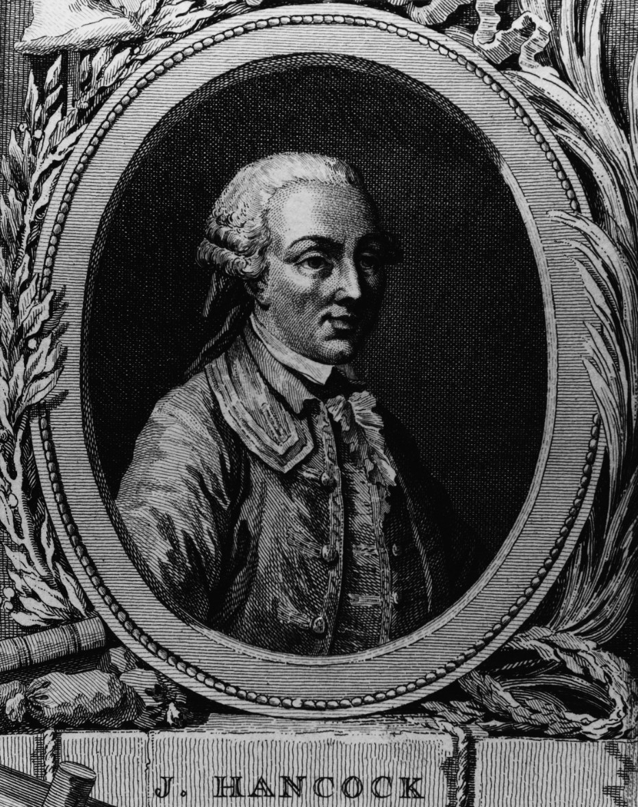 John Hancock (1737-1793), President of the Continental Congress and signer of the Declaration of Independence. (Naval History and Heritage Command Photograph NH 64176)