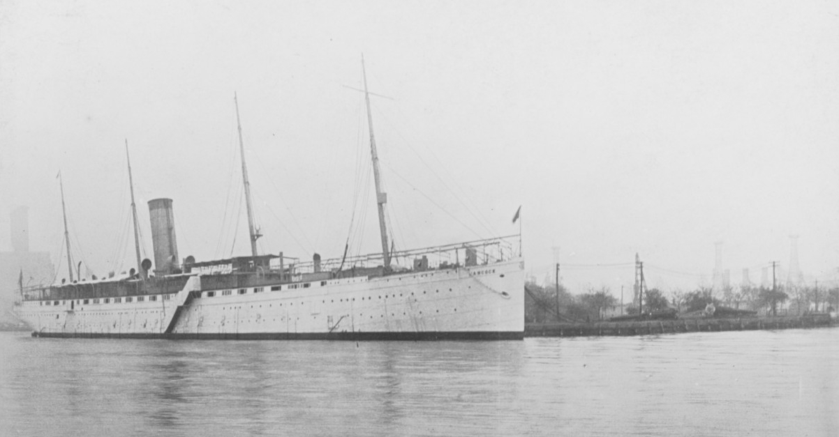 Hancock as the receiving ship at the New York Navy Yard circa 1910. (Naval History and Heritage Command Photograph NH 105913)