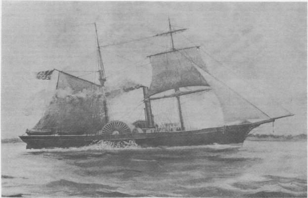 Charcoal rendering of the cutter Harriet Lane