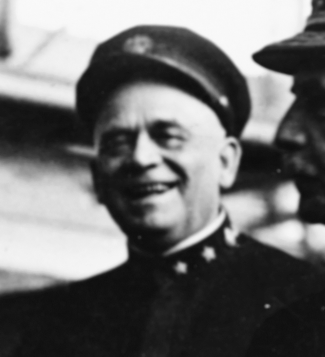 Rear Adm. Helm during an inspection of the Naval Aircraft Factory, Philadelphia, Pa., 22 March 1918. (Naval History and Heritage Command Photograph NH 53371, cropped)