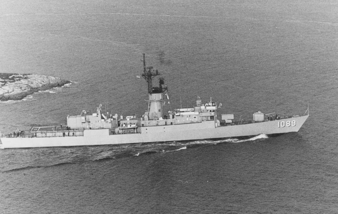 Jesse L. Brown off the coast of Maine, circa 1978. (Naval History and Heritage Command Photograph NH 96767)