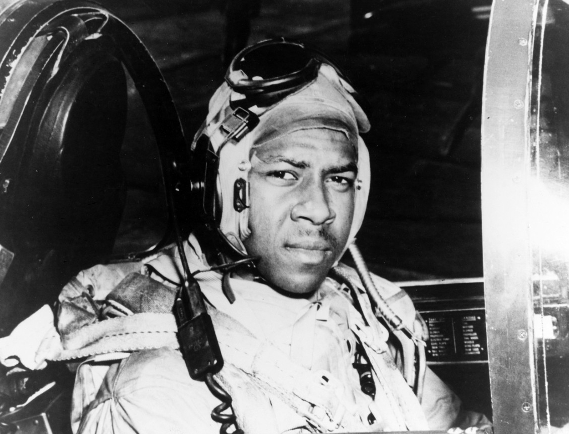 Ens. Jesse L. Brown -- the first African American naval aviator to fly in combat and the first to be killed therein. (U.S. Navy Photograph USN 1146845, National Archives and Records Administration, Still Pictures Division, College Park, Md.)