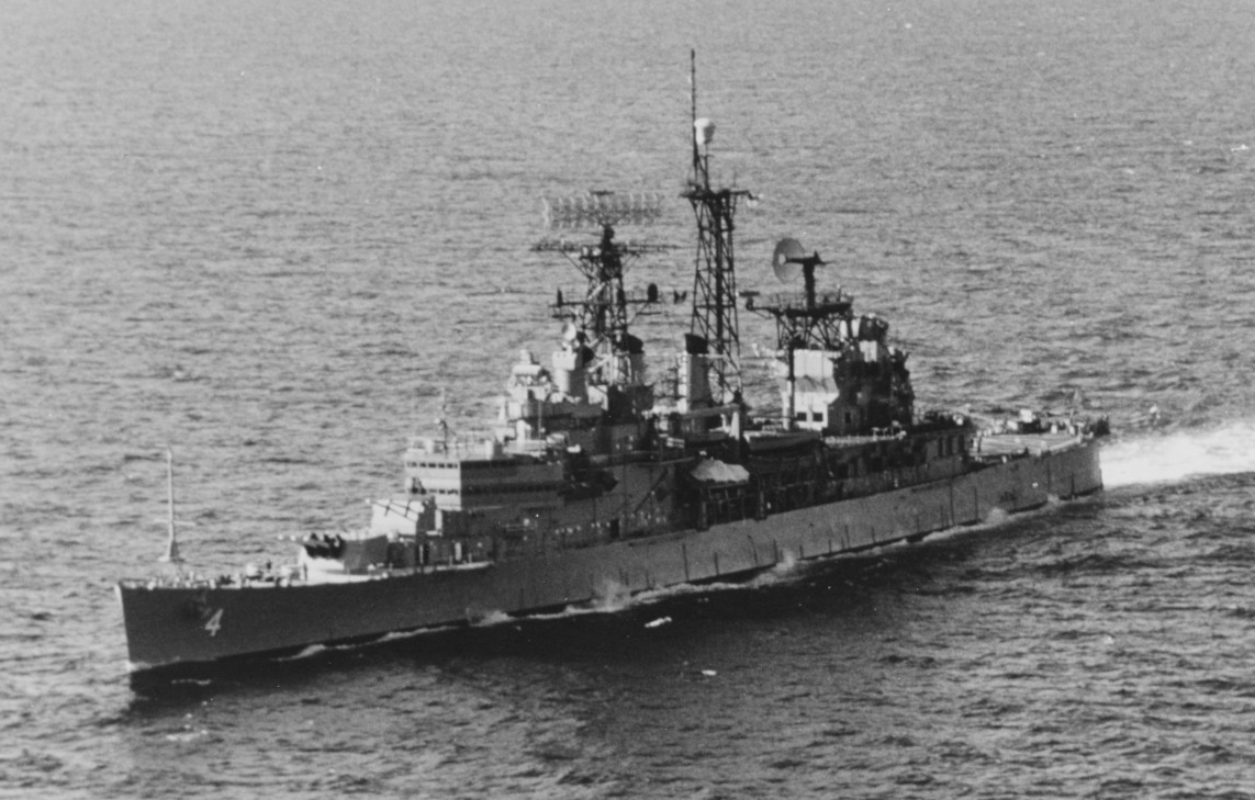 Little Rock underway in the Mediterranean, 5 January 1972. (Naval History and Heritage Command Photograph (PM1 Class Robert D. Fennell) NH 98961)