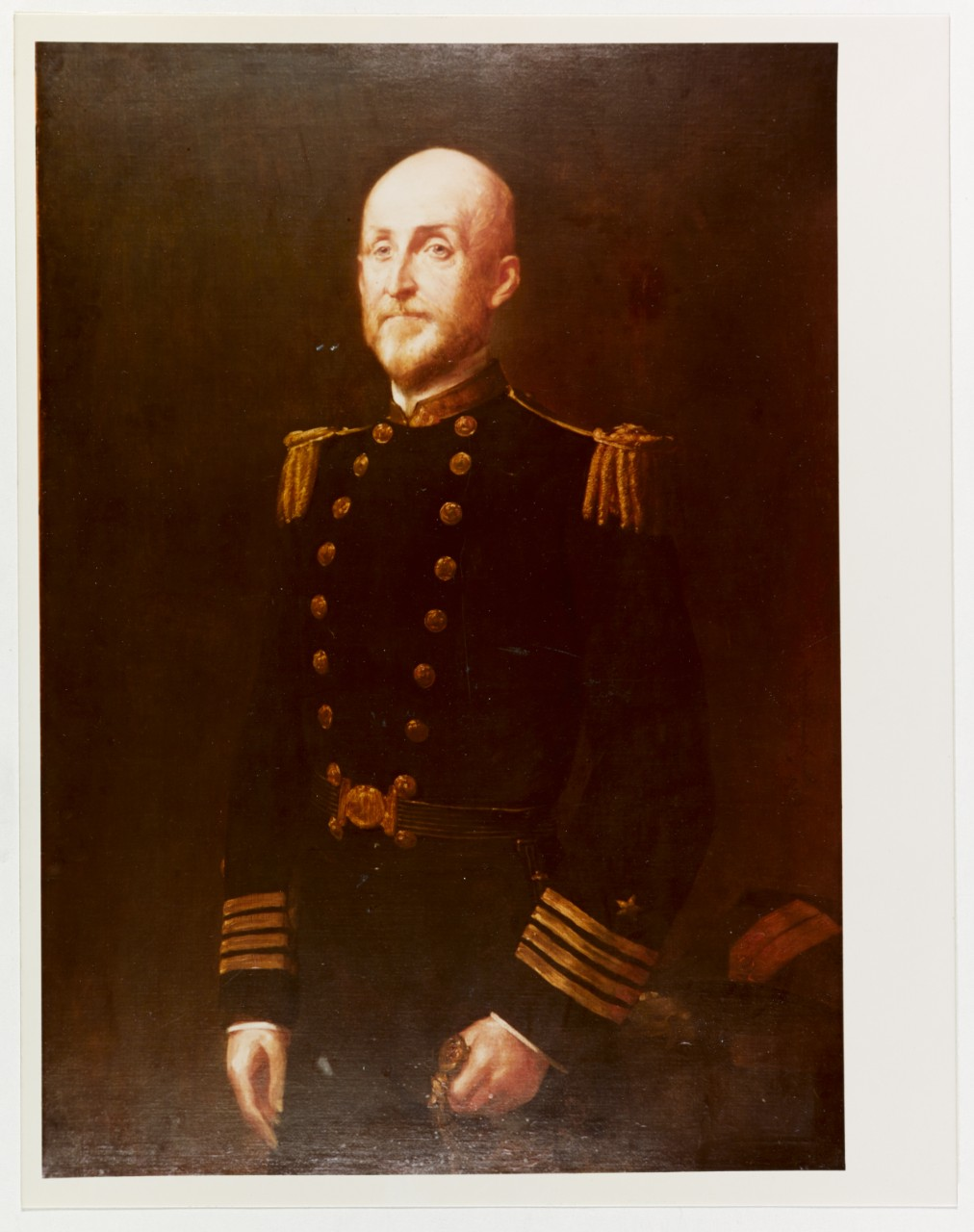 Portrait in oils of author, theorist, and U.S. naval officer Capt. Alfred Thayer Mahan, by an unidentified artist from the Navy Art Collection. (Naval History and Heritage Command Photograph NH 48056-KN)