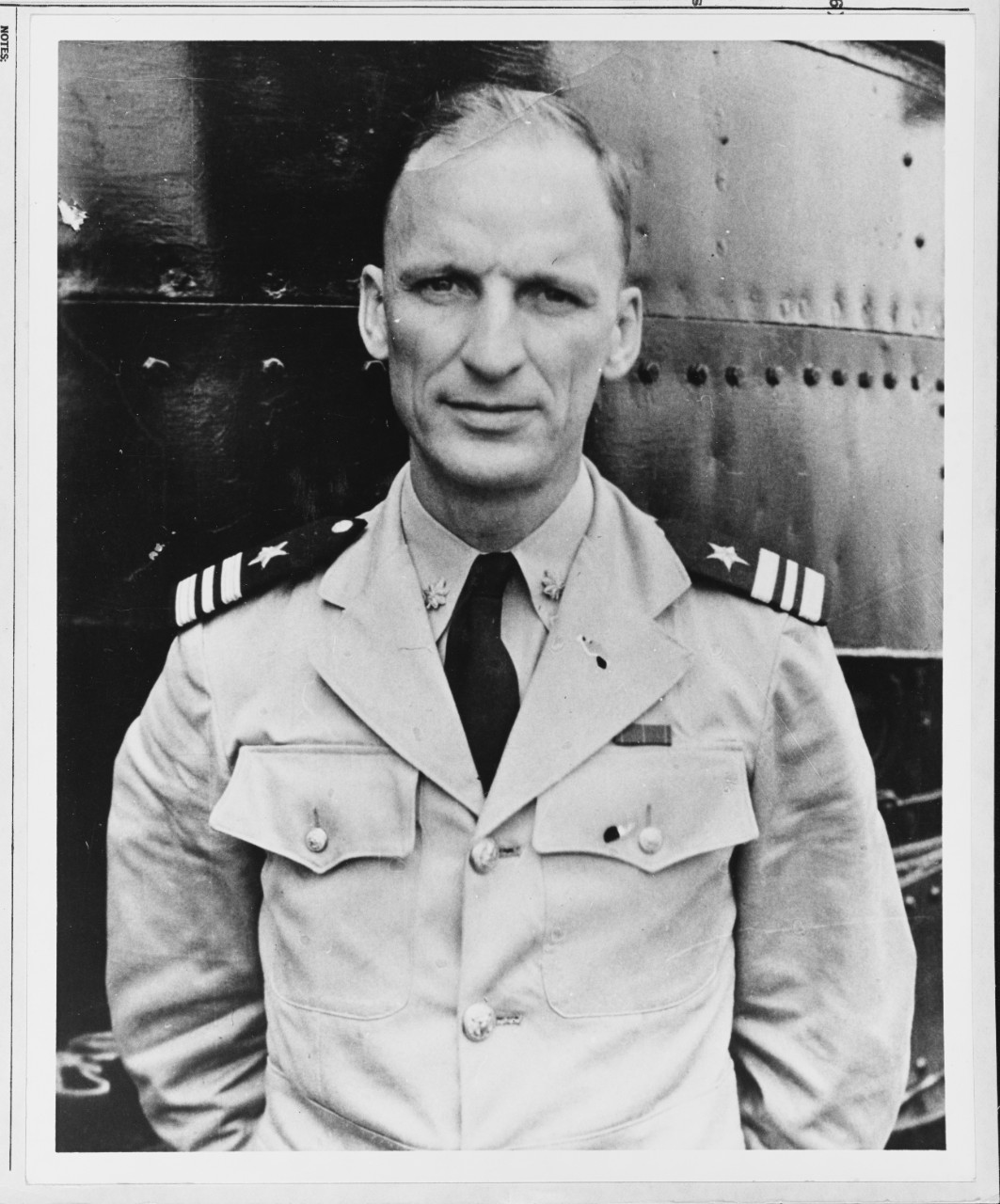 "Lt. Cmdr. Mannert Lincoln Abele, known to friends and family members as ""Jim,"" on board a submarine, circa early 1940s. (Naval History and Heritage Command Photograph NH 56003)"