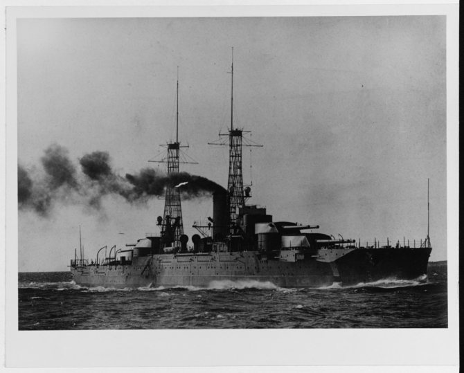 Nevada running trials, circa early 1916. (Naval History and Heritage Command Photograph NH 45796)