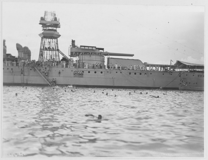 Swimming off Nevada, 1921. (Naval History and Heritage Command Photograph NH 122979)