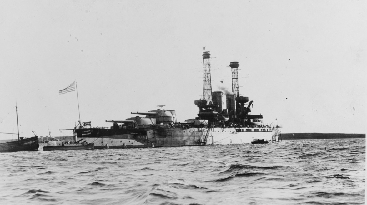 New York at Scapa Flow, 1918. (Naval History and Heritage Command Photograph NH 45143)