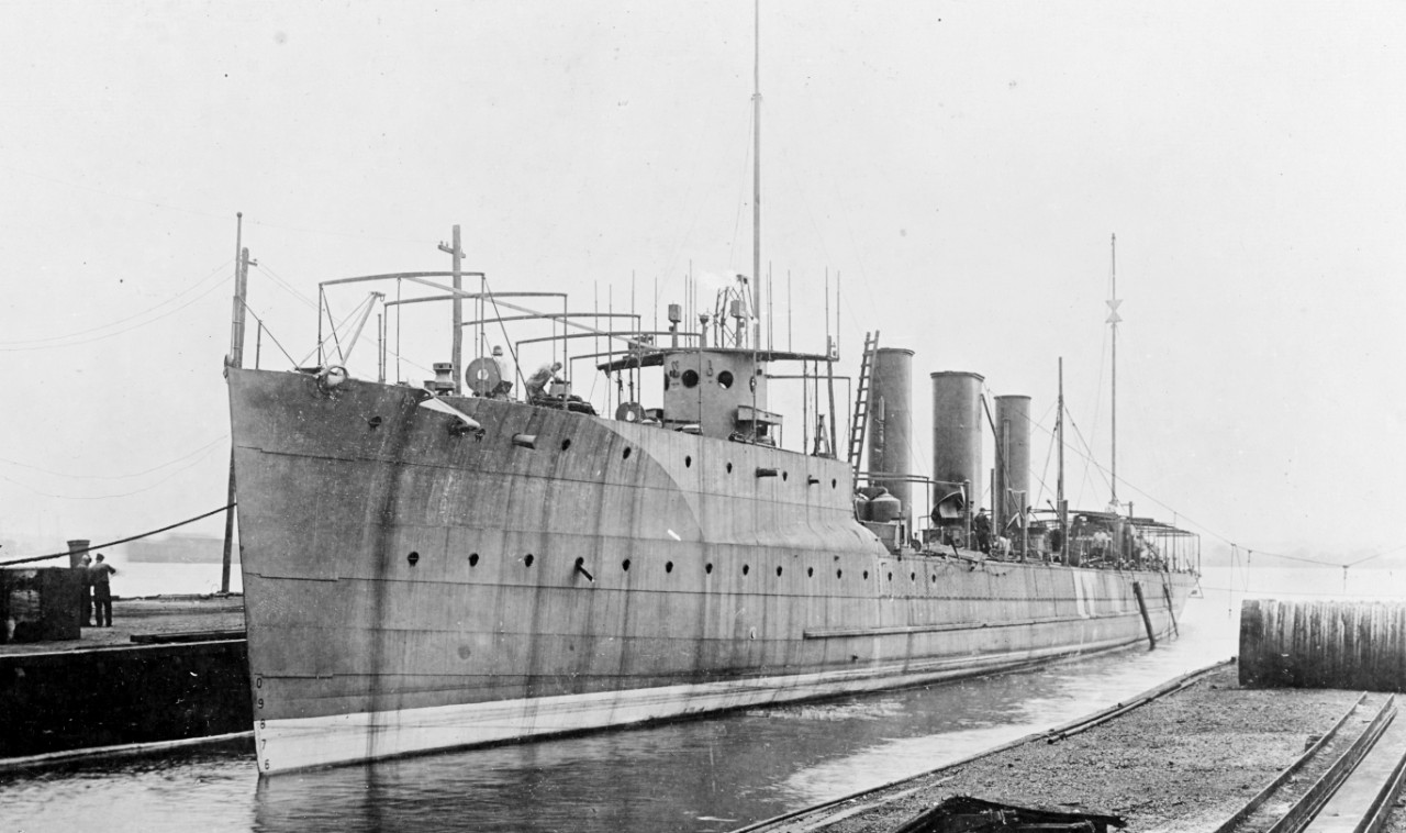 Patterson fitting out at the William Cramp & Sons Shipyard, Philadelphia, Pa., 7 July 1911. (U.S. Army Signal Corps Photograph 111-SC-7065, National Archives and Records Administration, Still Pictures Division, College Park, Md.)