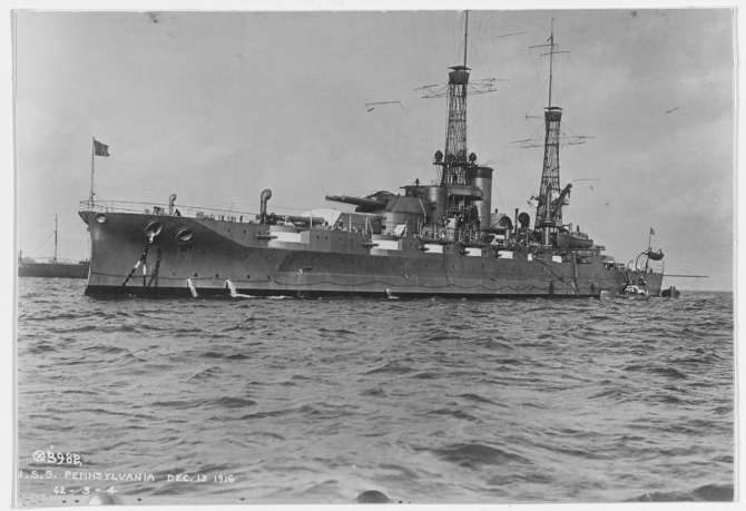 Pennsylvania, 13 December 1916. (Naval History and Heritage Command Photograph NH 42729)