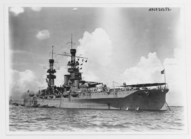 Pennsylvania, circa 1920. Collection of Gustave Maurer. (Naval History and Heritage Command Photograph NH 1624).