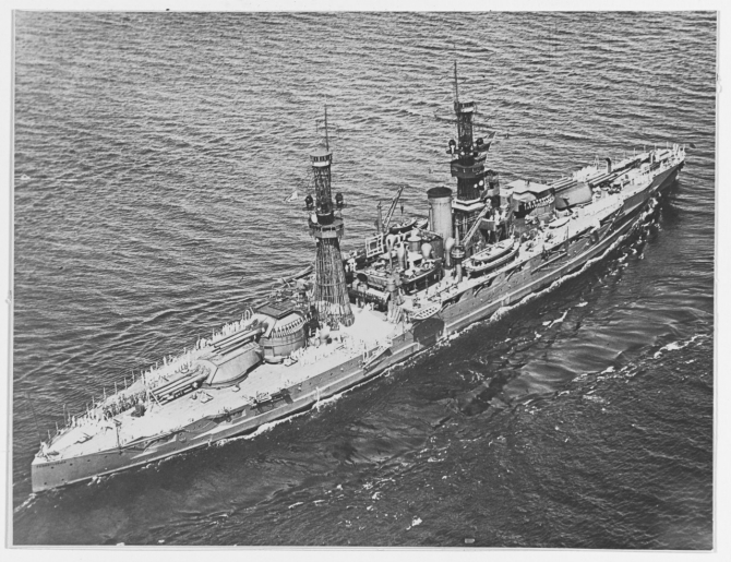 Pennsylvania underway, circa 1920. (Naval History and Heritage Command Photograph NH 42741)
