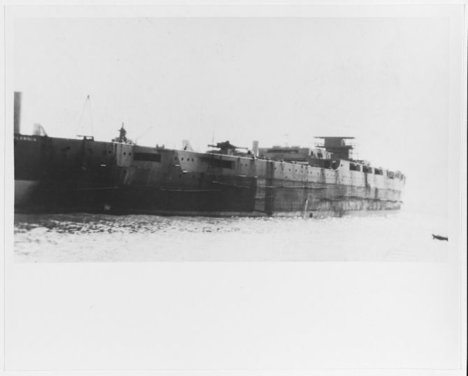 Pennsylvania fitting out at Newport News, Va., 23 April 1915. Collection of Gilman L. Smith. (Naval History and Heritage Command Photograph NH 93528)