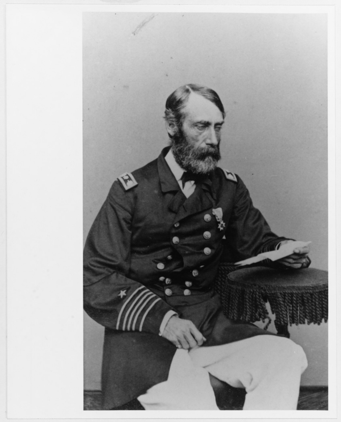 Cmdr. Francis A. Roe, photographed by Gurney & Son, New York, probably circa 1866-1867. The original print is mounted on a carte de visite. Collection of Rear Admiral Francis A. Roe, USN. Donated by Miss Mary E. Mason, 1929. (Naval History and Heritage Command Photograph NH 46948-KN)