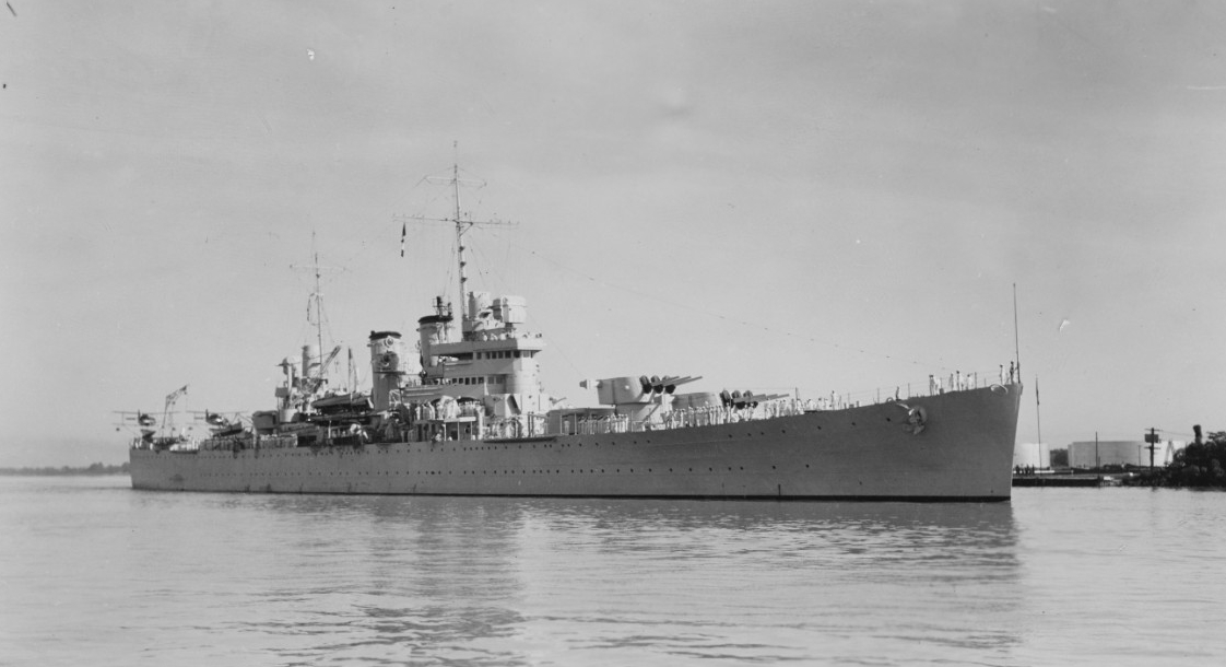 Savannah displays sleek lines in this port bow picture taken sometime after her commissioning in 1938. (U.S. Navy Photograph NH 108686, Naval History and Heritage Command)