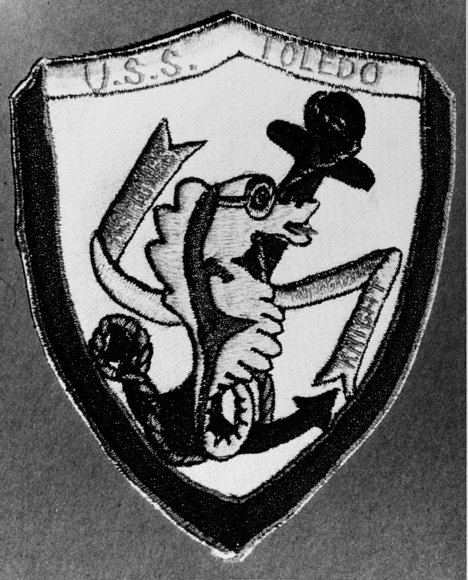 USS Toledo (CA-133) Jacket patch of the ship's insignia
