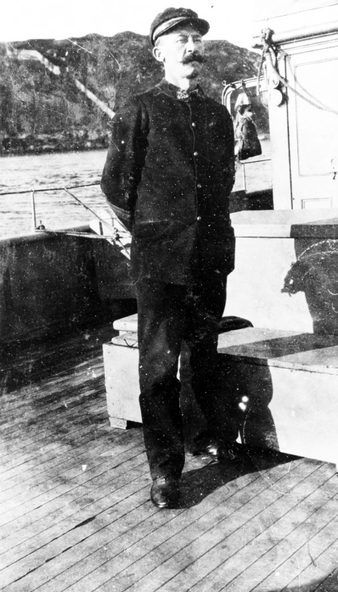 The French pilot who guided Warrington into Brest Harbor when she first arrived in November 1917. Courtesy of Mr. Gustavus C. Robbins, Somerville, Mass., 1973. (Naval History and Heritage Command Photograph NH 77157)