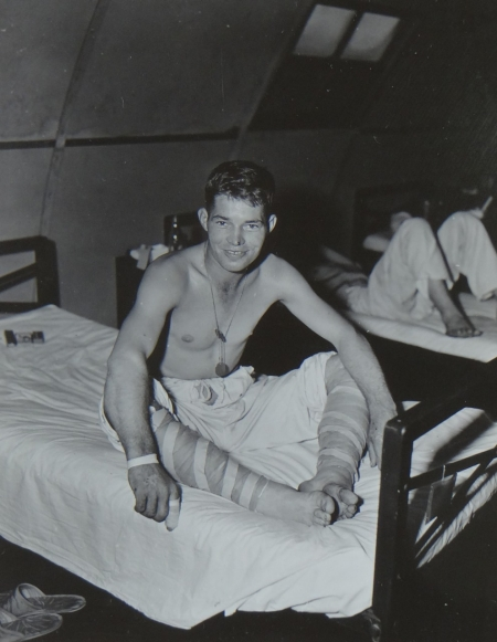 Edward G. Payne, S2c USNR, survivor of the USS Indianapolis in Naval Base Hospital No. 20, Peleliu, 5 August 1945.