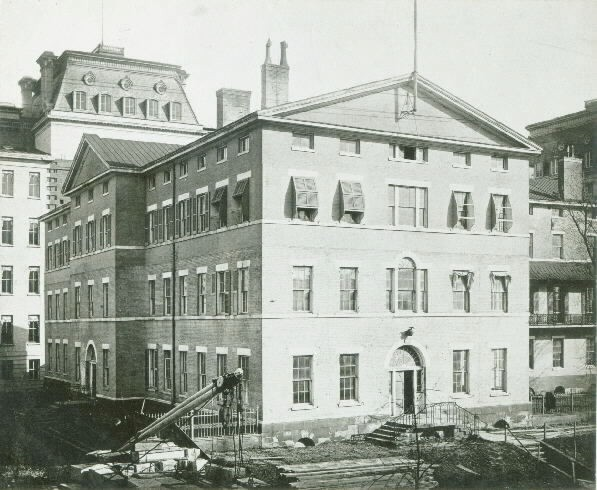 Old Navy Department Building facing 17th Street, Washington D.C. (1870). This site is now occupied by the Executive Office of the President, (1968). Naval Histotical Center, Photographic Section NH#001526.