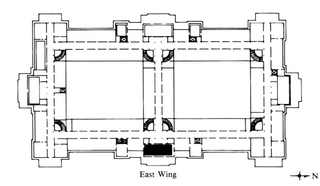 Floor plan of East (Navy) Wing