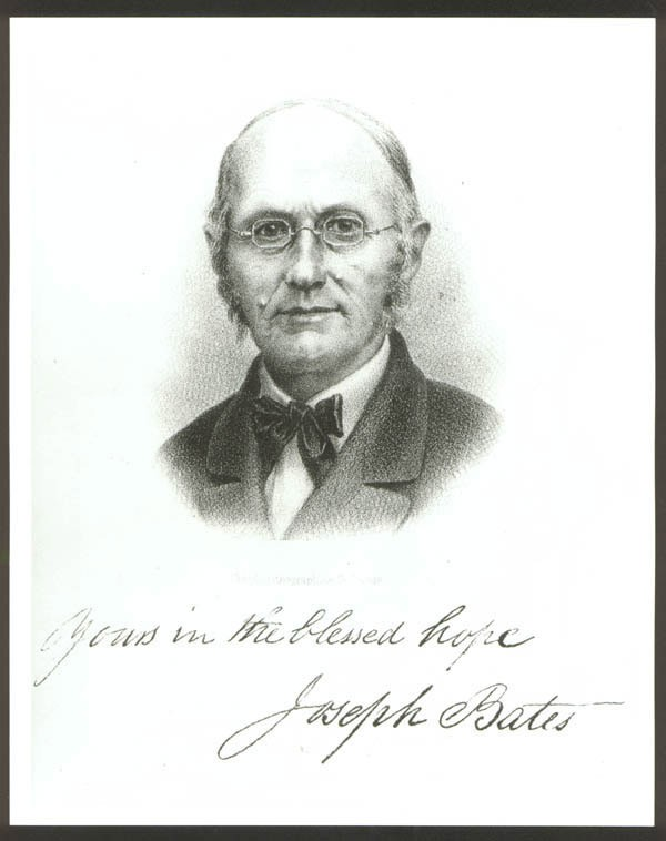 Portrait of Elder Joseph Bates, lithogrph.