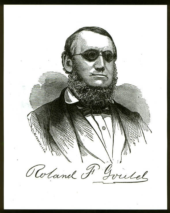 Portrait of Roland Gould, engraved by H.L. Penfield.