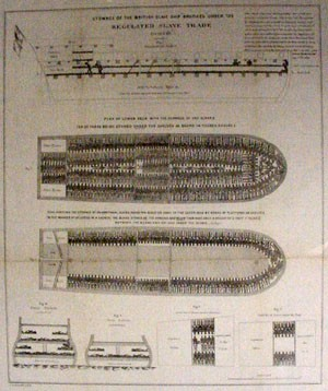 "Stowage of the British Slave Ship ""Brookes"" Under the Regulated Slave Trade act of 1788"