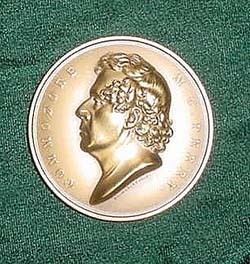 Image of Bronze Medal of Commodore Matthew C. Perry